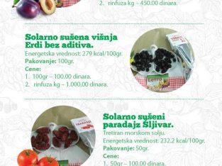 Prodaja SOLARNO sušeno voće i povrće